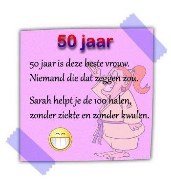 tekst voor verjaardagskaart 50 jaar Tekst 50 Jaar Verjaardag Sarah   ARCHIDEV tekst voor verjaardagskaart 50 jaar