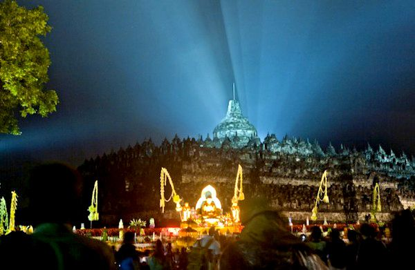 visit the largest Vesak Day celebrations at the Borobudur temple holiday