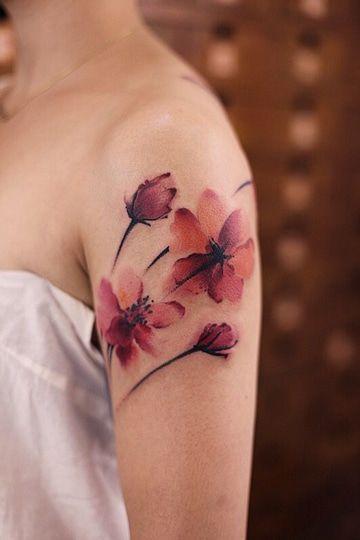 tatuajes de flores chinas para mujer