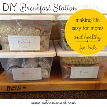 DIY Breakfast Station...making life easy for mom and healthy for kids. A 2+ month menu plan!