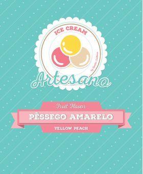 Sabores de Fruta - Base de gelado artesanal Pêssego Amarelo - 1250 grs // Lendas Sublimes - Produtos Gourmet