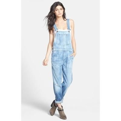 $330, Light Blue Denim Overalls: Citizens of Humanity Quincey Distressed Denim Overalls. Sold by Nordstrom.