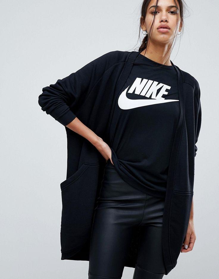 Nike - Lange Strickjacke in Schwarz - Schwarz Jetzt bestellen unter: https://mode.ladendirekt.de/damen/bekleidung/strickjacken-und-maentel/strickjacken/?uid=b2682604-c58b-56db-8f93-ad422a146730&utm_source=pinterest&utm_medium=pin&utm_campaign=boards #strickjacken #pullover #female #bekleidung #maentel Bild Quelle: asos.de