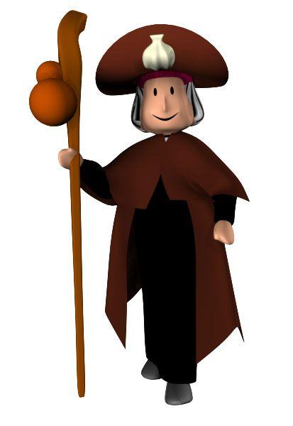 PEREGRINO: Traje corto con sombrero