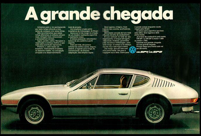 Anúncio Volkswagen SP 1 e SP 2 - (1972)