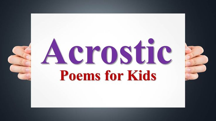 Acrostic Poem Examples for Kids
