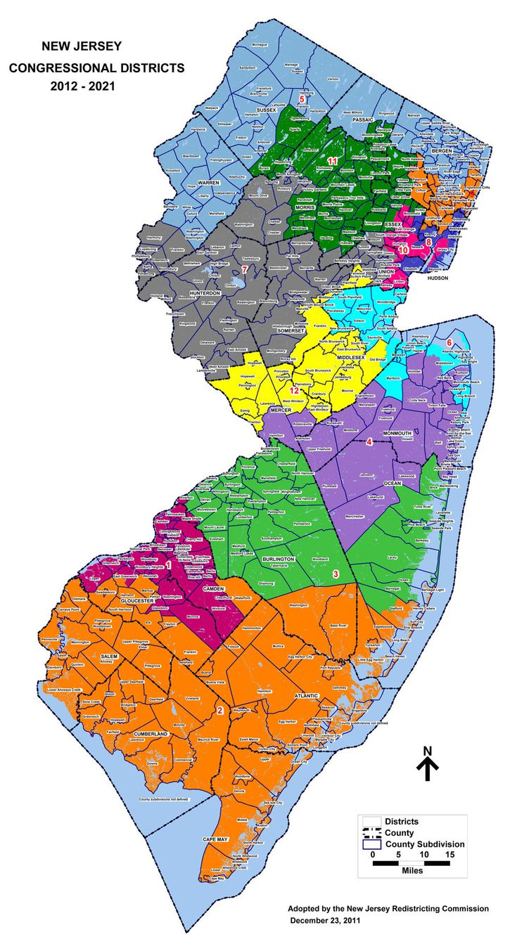 Consolidating New Jersey  Primary Election Coverage Httpwww - Us congressional districts map by zip code