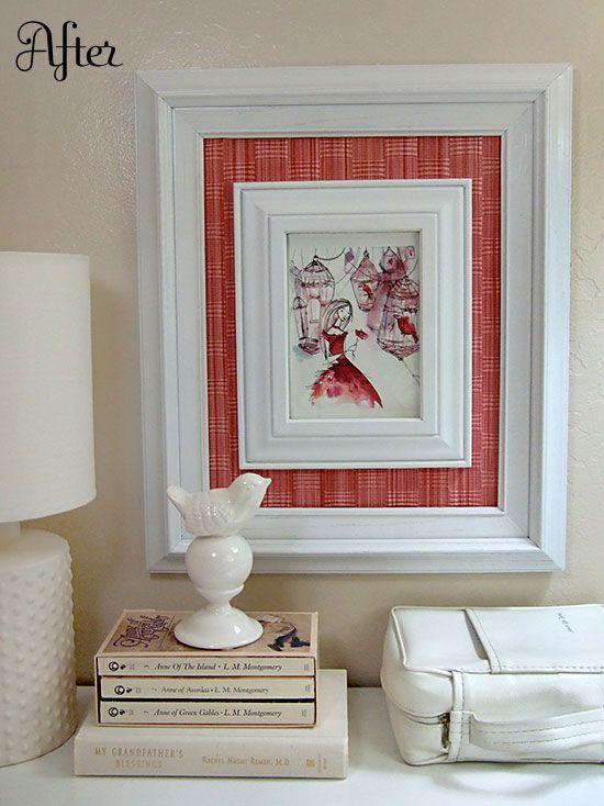 Frame within a frame tutorial: Decor Ideas, Gifts Cards, Diy Crafts, Diy Frames, Thrift Stores, Diy Wall Art, Frames Wall, Frames Ideas, Pictures Frames
