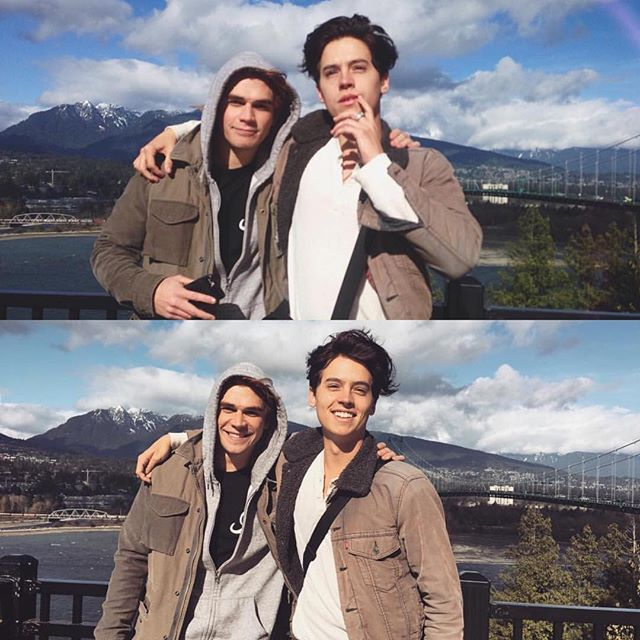 KJ and Cole today in Vancouver!
