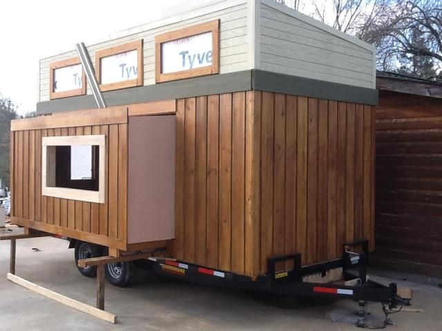 "First tiny house with an RV slide-out feature? Created by ""Tiny By Design"" in central Tennessee."