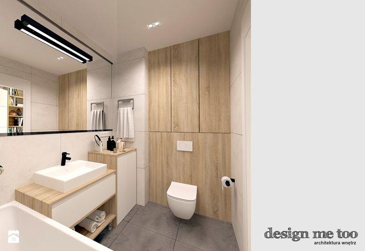 SKANDYNAWIA W NOWOCZESNYM WYDANIU NA WOLI - Mała łazienka w bloku bez okna, styl skandynawski - zdjęcie od design me too