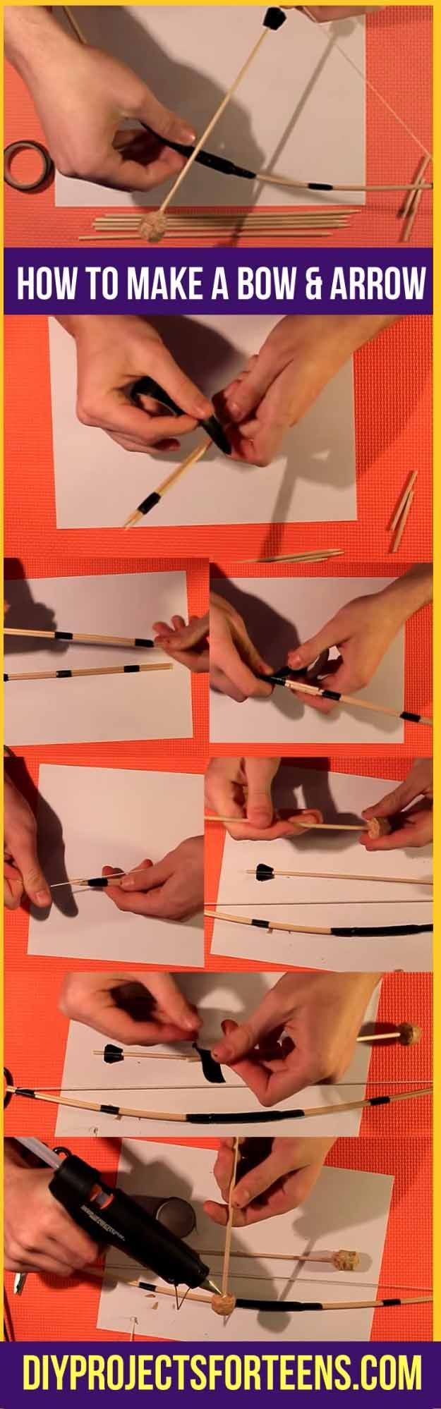 Cool Crafts You Can Make for Less than 5 Dollars | Cheap DIY Projects Ideas for Teens, Tweens, Kids and Adults | Make A DIY Mini Bow and Arrow | http://diyprojectsforteens.com/cheap-diy-ideas-for-teens/