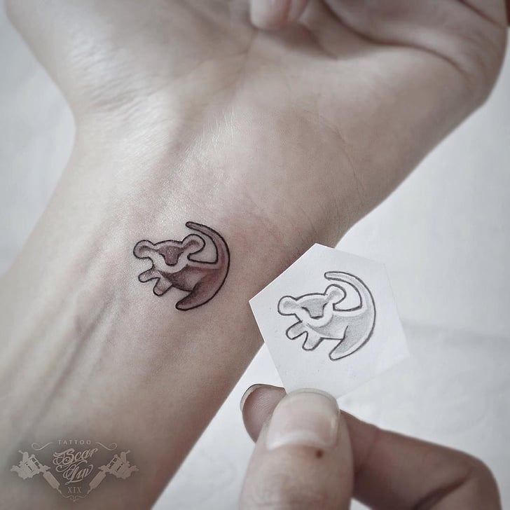 Tiny Simba Tattoos | 12 Tiny Simba Tattoos For Those Who Just Can't Wait to Be King | POPSUGAR Beauty