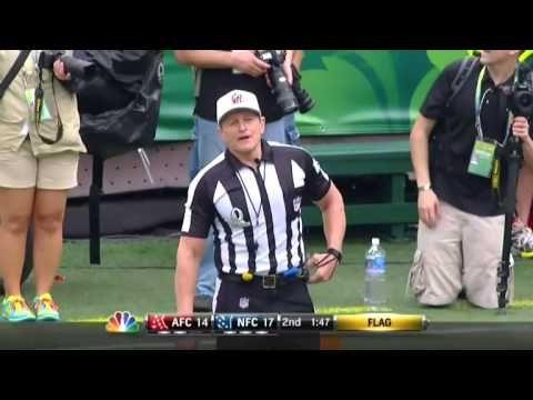 Referee Ed Hochuli's smart-ass moment.