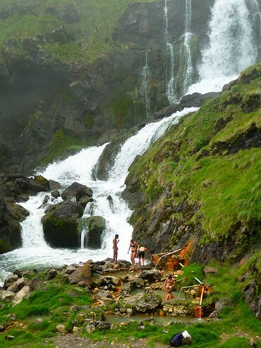 Hotsprings below Segara Anak of Mount Rinjani, Lombok, West Nusa Tenggara, Indonesia.