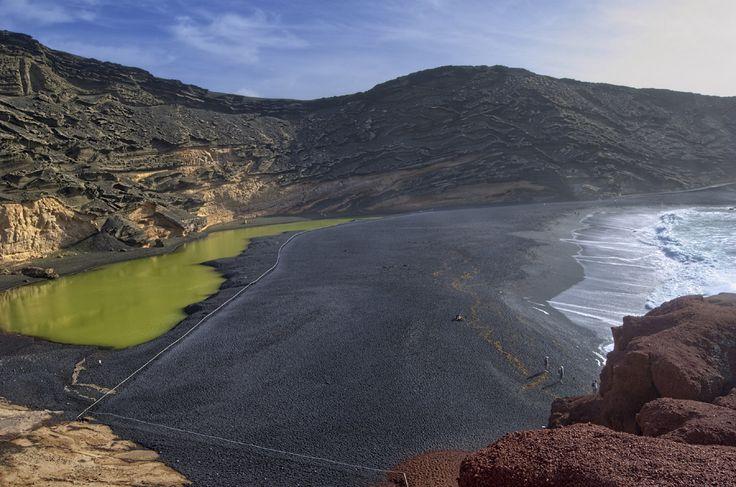 Charco de Los Clicos (Charco Verde), el Golfo, Lanzarote, Las Islas Canarias (the Canary Islands), Spain