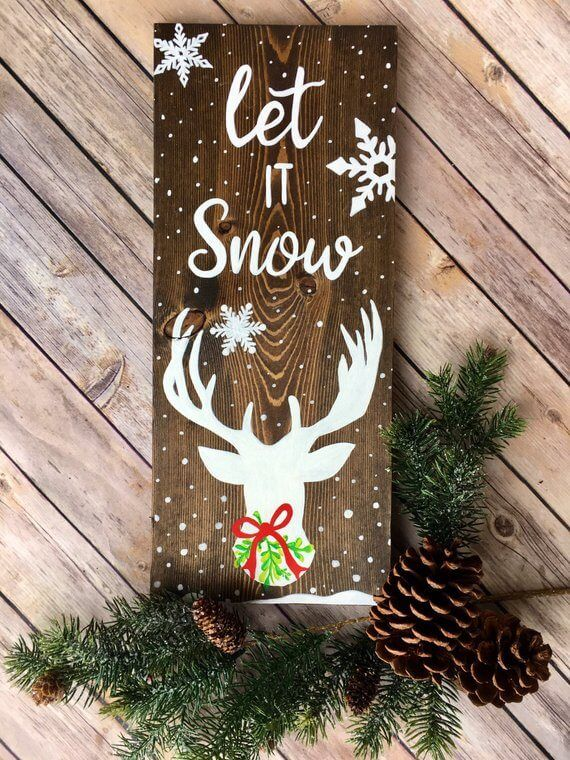 26 Lovely Christmas Wood Signs To Create A Unique Holiday Look Christmas Signs Wood Christmas Signs Easy Christmas Diy