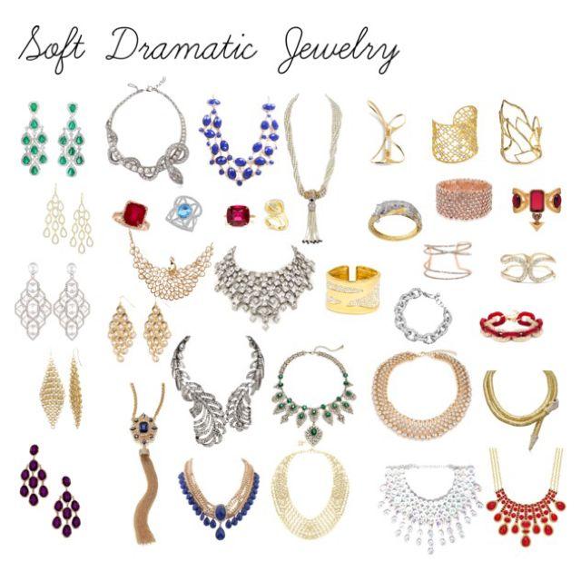 Kibbe Soft Dramatic Jewelry by ithinklikeme
