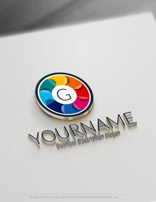104 best free logo maker images on pinterest 3d logo for Logo design online free 3d