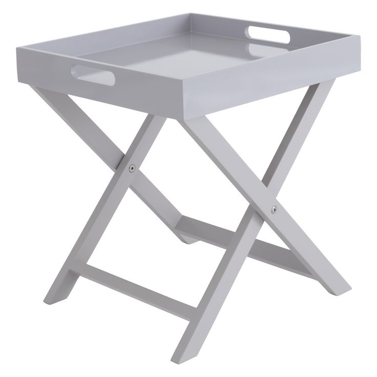 OKEN Grey folding side table