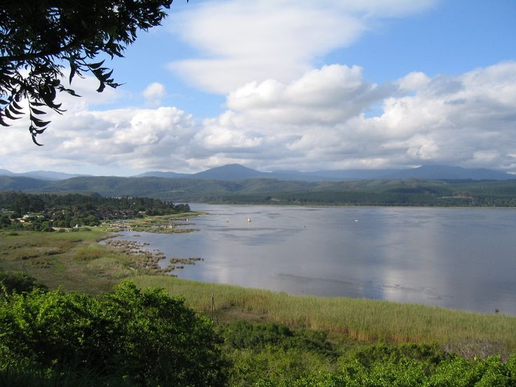 Knysna lake area on the Garden Route in the Western Cape