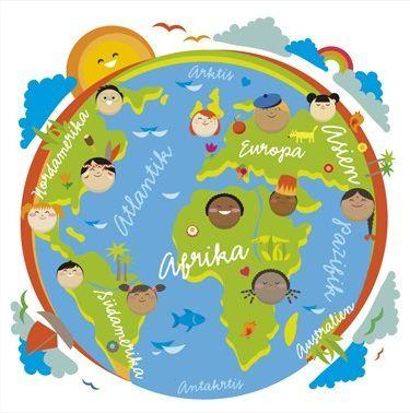 Thinglink: Onze wereld; juf Ineke. Interactieve plaat met liedjes, filmpjes en dansjes