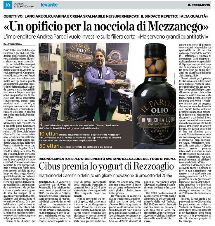 """Dicono di noi: oggi sul """"Il Secolo xix"""" di Levante a pagina 16 intervista al nostro CEO Andrea Parodi"""