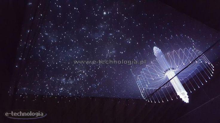 sufity dekoracyjne gwiezdne niebo - sufity dekoracyjne gwiaździste niebo - sufity dekoracyjne z żyrandolem
