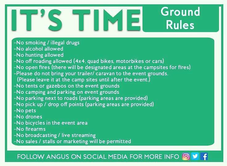 Ground rules for the event.. #ItsTime #ItsTimeSA #Bloemfontein #22April #AngusBuchsn #wellness  #BiggestPrayerDayInSA Biggest prayer event in South Africa ever Biggest event in South Africa ever Praying for South Africa for justice & peace & hope Free event 5 kilometres outside Bloemfontein Get free parking vouchers at www.itickets.co.za (search It's Time & click on Make An Offer) Praying for the murders to stop Praying for the raping of women & children to stop Praying for corruption to…