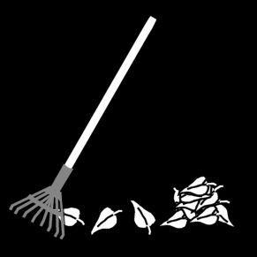 Pictogram Bladeren harken