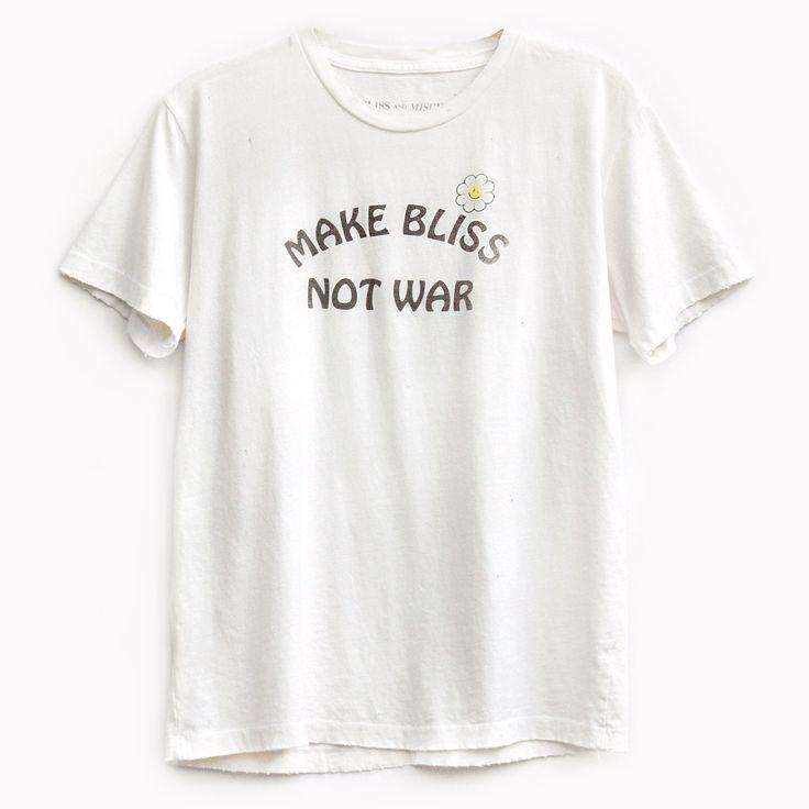 'Make Bliss Not War' Destroyed Tee