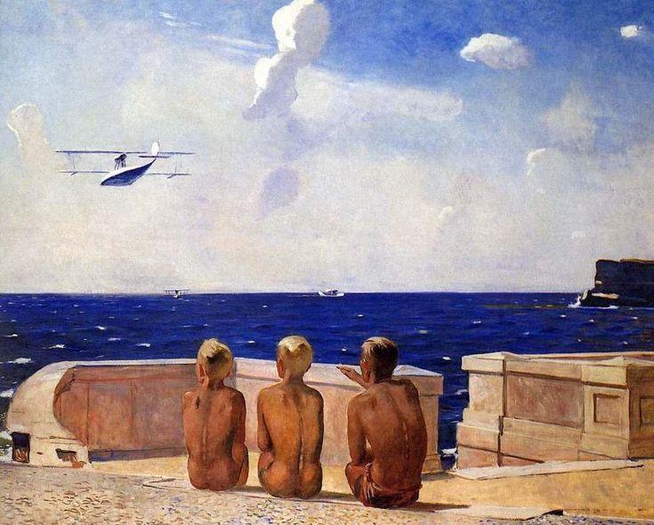https://flic.kr/p/a462Fk | Alexander Deineka, Future Pilots, 1938 #