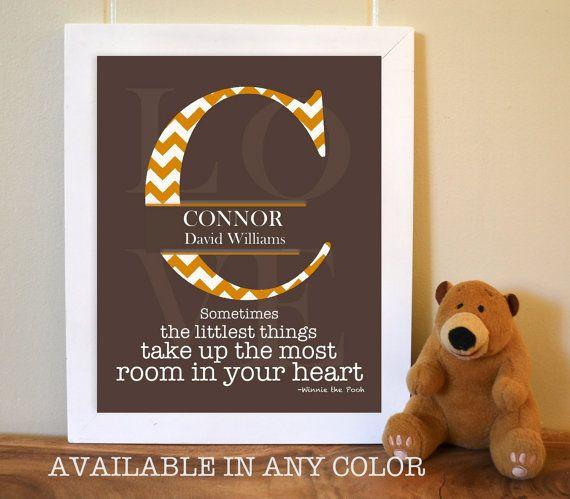 Nursery monogram, nursery art, baby boy nursery, chevron nursery decor by PicabooArtStudio, $14.99