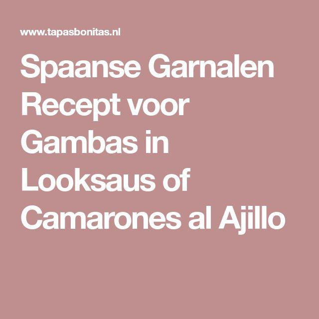 Spaanse Garnalen Recept voor Gambas in Looksaus of Camarones al Ajillo