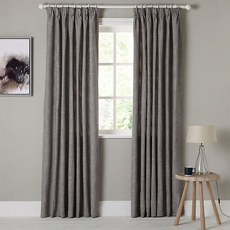 John Lewis Croft Collection Skye Lined Pencil Pleat Curtains Loch Blue