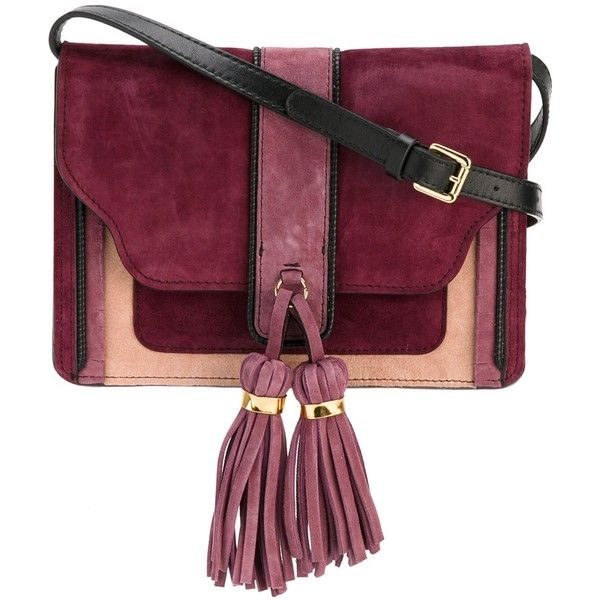 L'Autre Chose tassel detailing crossbody bag ($396) ❤ liked on Polyvore featuring bags, handbags, shoulder bags, pink, pink leather purse, crossbody shoulder bags, pink shoulder bag, leather crossbody and pink leather handbags