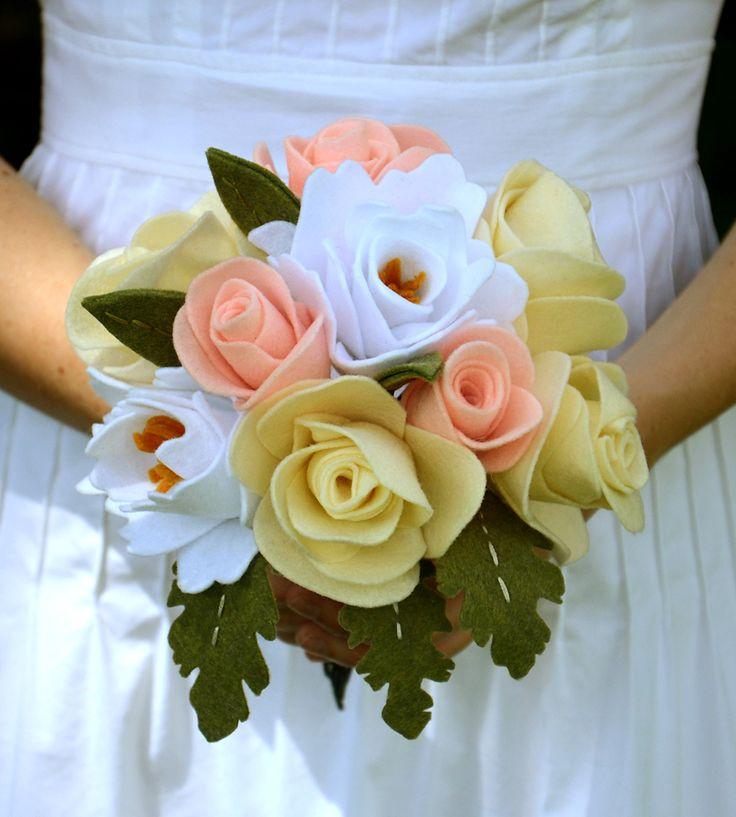 296 best bouquet images on pinterest felt flowers felted flowers roses peonies recycled felt flower bouquet mightylinksfo