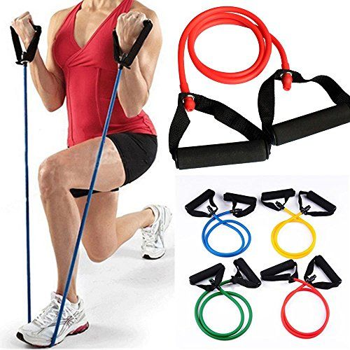 Juenana Resistance Bands Gym Exercise Tubes Stretch Heavy Set for Yoga Pilates Yellow * You can get additional details at the image link.