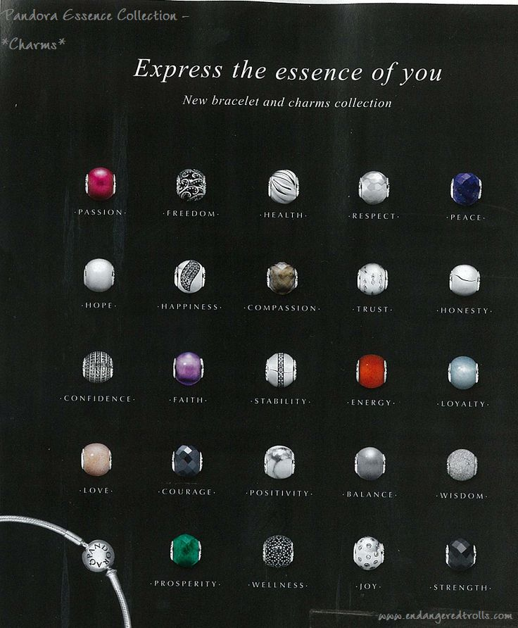 Pandora Essence Collection - Passion, Courage, Happiness with the new Bangle!