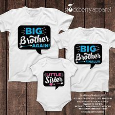 Hey, I found this really awesome Etsy listing at https://www.etsy.com/listing/288042749/little-sister-big-brother-shirts-set-of