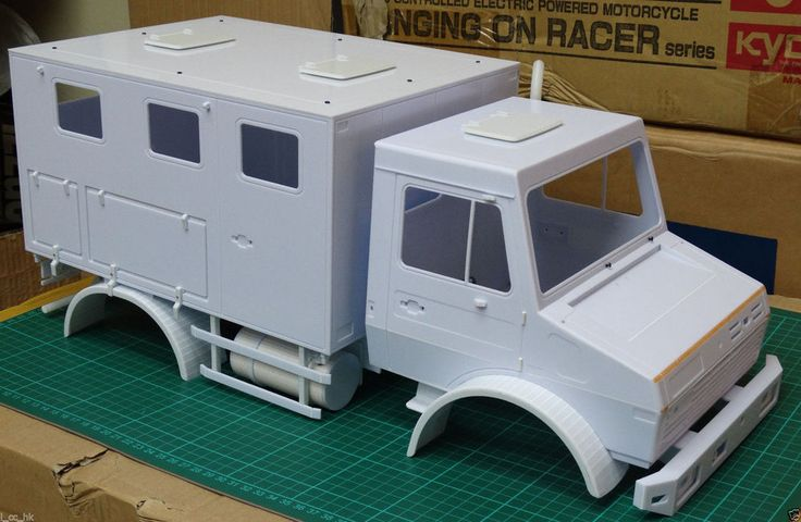 NEW VERSION **1/10 Mercedes-Benz Unimog Truck Scale Plastic Body Shell UNPAINTED #sylvian1975