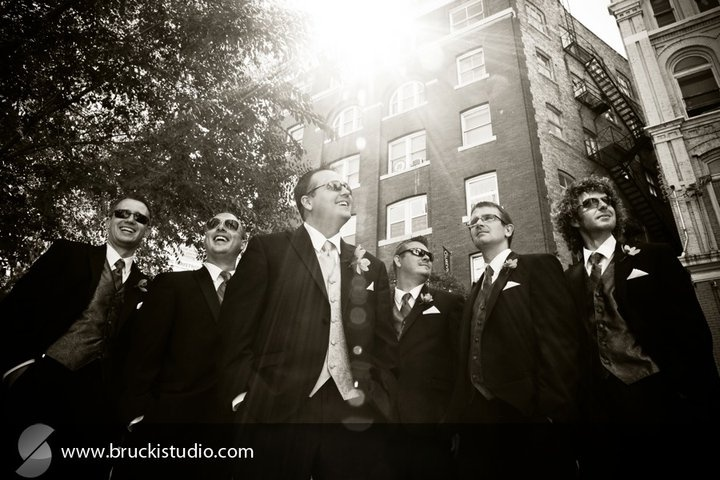 Good looking lads- Image courtesy of Trevor Brucki www.bruckistudio.com Event planning, coordination and decor by MWs www.madelinesweddings.com