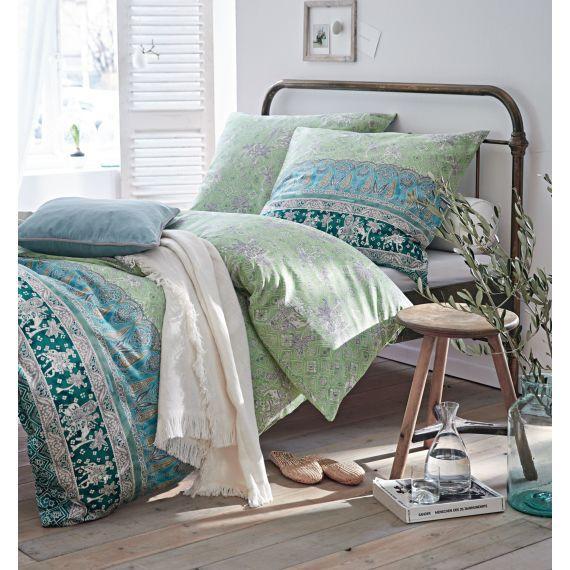 verspielte muster in gr n blau und t rkis impressionen interior bettw sche gr n. Black Bedroom Furniture Sets. Home Design Ideas