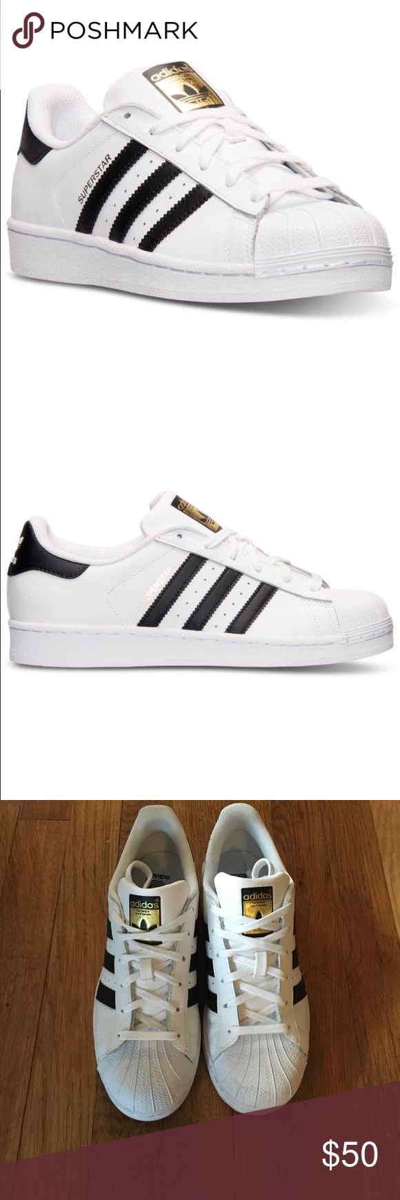 Adidas Superstar shoes Adidas Superstar shoes. Great condition. Only worn once. Size is kids 6 1/2 but fits an 8 1/2 adult. Adidas Shoes Sneakers