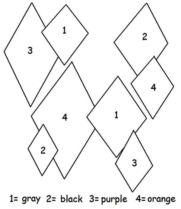 Diamond Shape Diamond Shape Color By Number Coloring Pages Coloring Pages Diamond Shapes Shape Coloring Pages