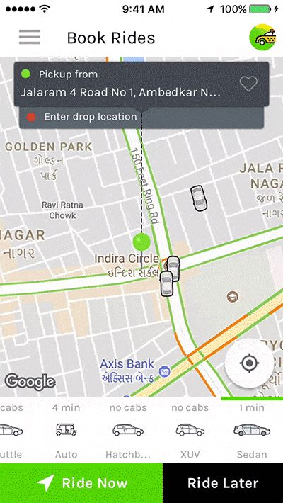Taxi Booking App - A Complete Clone of UBER with UserDriver & Backend CMS Coded with Native Android (Android)