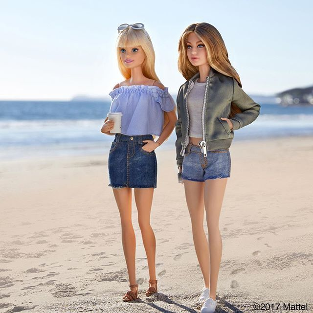 WEBSTA @ barbiestyle - From the @TommyHilfiger catwalk to our Malibu beach walk, I've had the best time this week with @gigihadid! See all of our favorite moments together now in Stories.  #TommyxGigi #gigihadid #barbie #barbiestyle