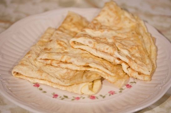 One Ingredient Crepes (Gluten-Free and Paleo):  flourless crepes are gluten and dairy-free and require only one kitchen staple: eggs.    Slice into thin strips and these make a good substitute for noodles