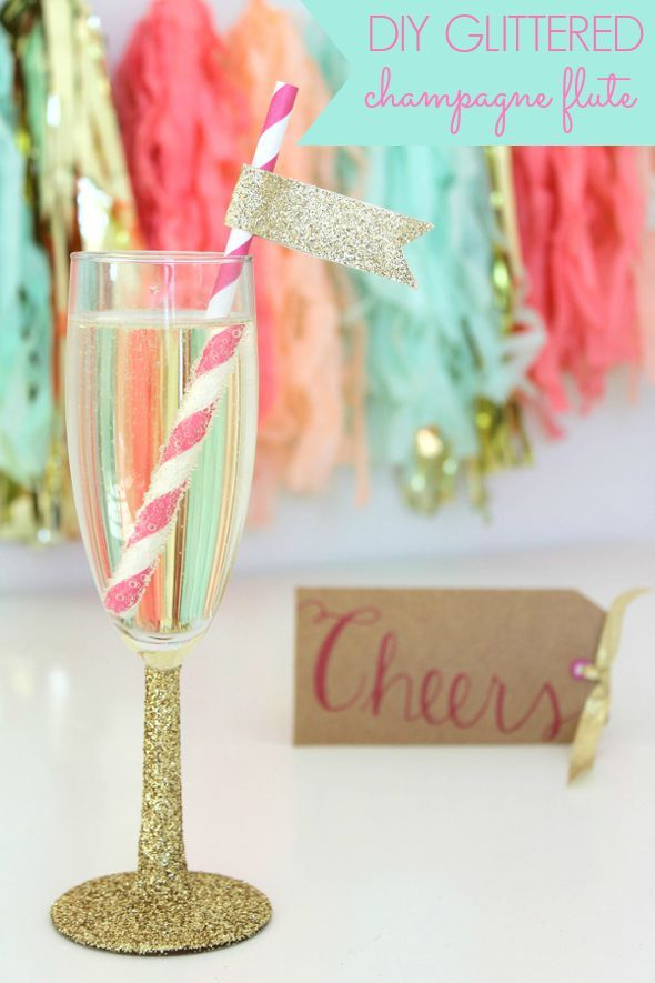 Best 25 diy wedding champagne flutes ideas on pinterest for Winter bachelorette party ideas