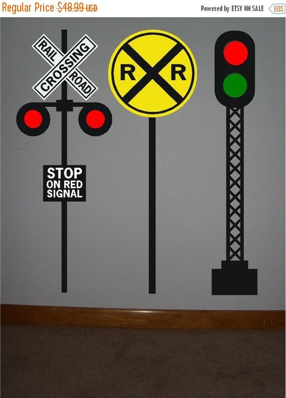 ON SALE 3 Railroad crossing signal vinyl by uniquevinyldesigns